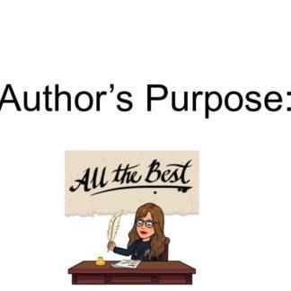 thumbnail of Author's Purpose