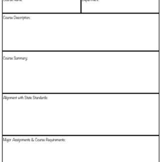 thumbnail of Course Outline & Unit Plan Template