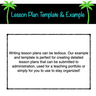thumbnail of Lesson Plan Template with Example