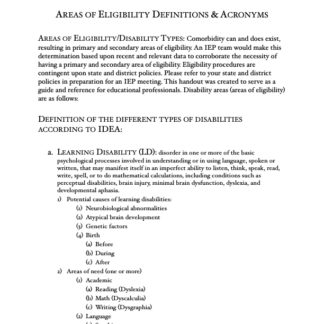 thumbnail of Areas of Eligibility Definitions, Acronyms & Descriptions copy