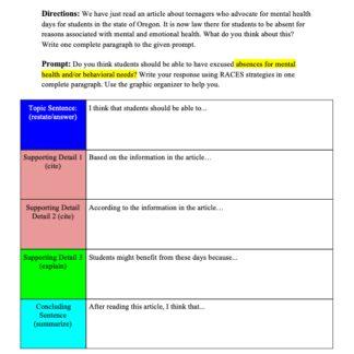thumbnail of 6th Grade Persuasive Writing Paragraph